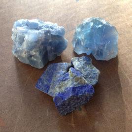 Blue Stone Elixir—Blue Calcite, Blue Fluorite and Lapis Lazuli
