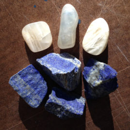 White Moonstone and Lapis Lazuli Elixir