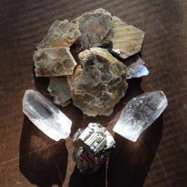 Pyrite, Mica, Galena and Quartz Elixir