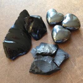 Black Stone Elixir—Obsidian, Hematite and Jet