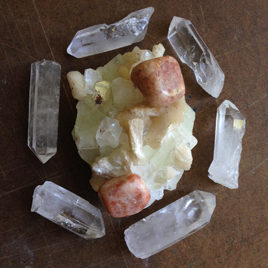 Apophyllite, Sunstone, Quartz Elixir