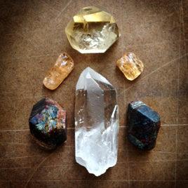 Citrine, Imperial Topaz, Garnet and Quartz Elixir