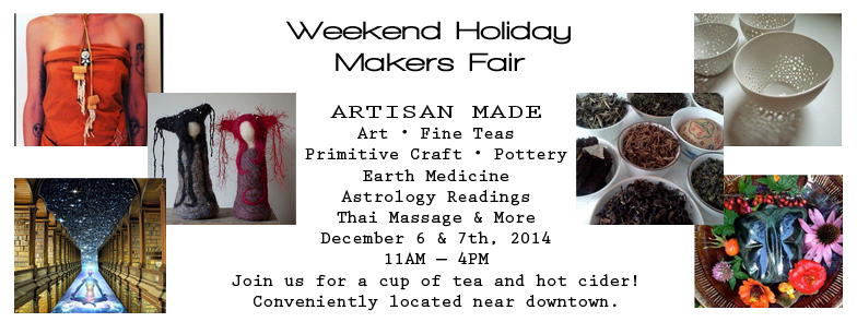 HOLIDAY MAKERS FAIR AT WILD KATUAH HEALING ARTS IN ASHEVILLE